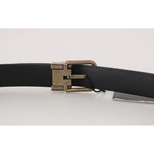 Dolce&Gabbana Brown D50161-2 Goatskin Gold Buckle Belt Groomsman Gift Image 3