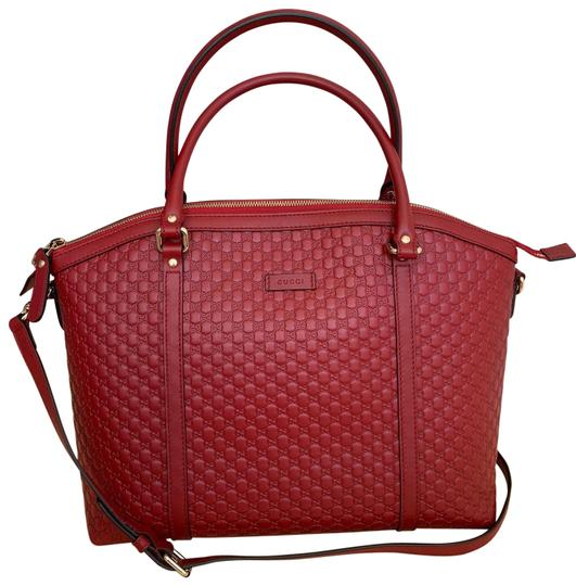 Preload https://img-static.tradesy.com/item/26305263/gucci-dome-microguccissima-red-leather-satchel-0-4-540-540.jpg