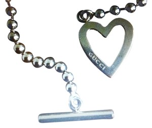 Gucci Gucci Toggle Ball & Chain Heart Bracelet