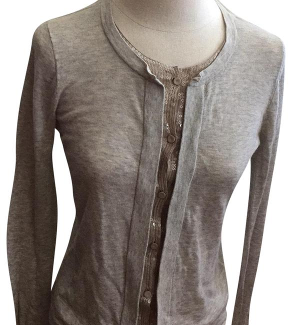 Item - Casual Button Grey and Tan Sweater