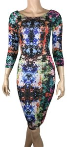 Akira short dress Multicolor Chicago Red Label Abstract Pattern on Tradesy