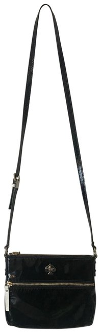 Item - Black/White Patent Leather Cross Body Bag