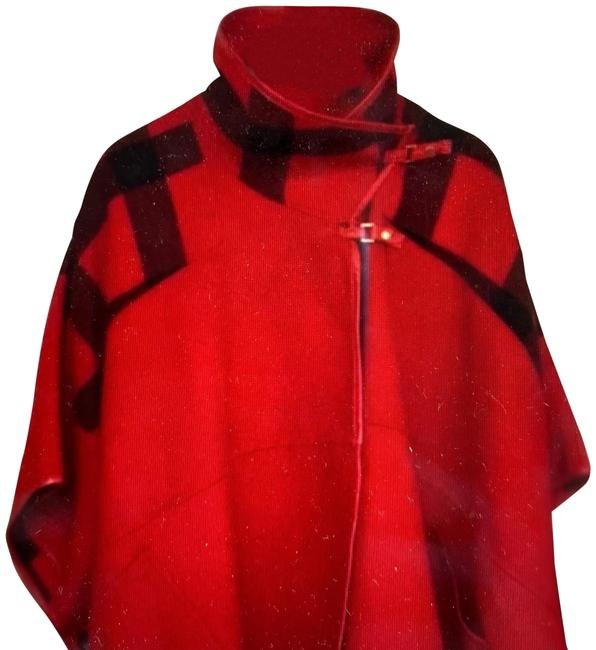 Item - Red Black Plaid New Coat Poncho/Cape Size OS