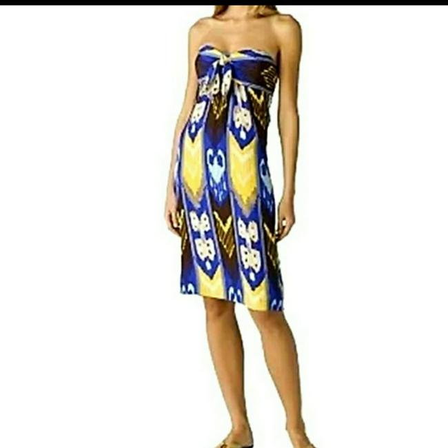Tory Burch The Leeona Ikat Silk Island Mid-length Night Out Dress Size 6 (S) Tory Burch The Leeona Ikat Silk Island Mid-length Night Out Dress Size 6 (S) Image 1