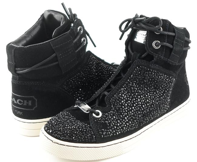 Item - Black Penda Suede Lace Up High Top Sneakers Size US 7 Regular (M, B)