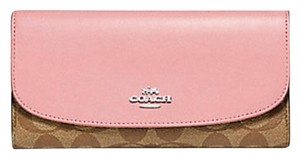 Coach Coach Check book wallet in signature f 52681 NWT