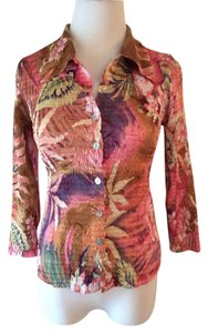 Cartise Top Pink multi print