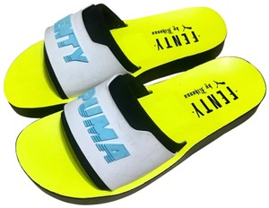 FENTY PUMA by Rihanna Pool Slides Gucci Slides Slides Neon Yellow Sandals
