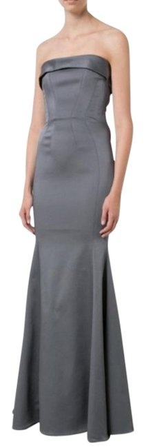 Item - Gray Malena Gown Long Formal Dress Size 10 (M)