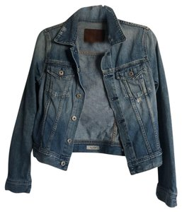 AG Adriano Goldschmied denim with distressing Womens Jean Jacket