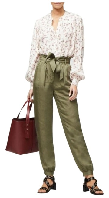 Item - Green Paperbag Trouser Pants Size 6 (S, 28)