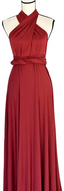 Item - Burgundy Tricks Of The Trade Maxi Gown Long Cocktail Dress Size 8 (M)