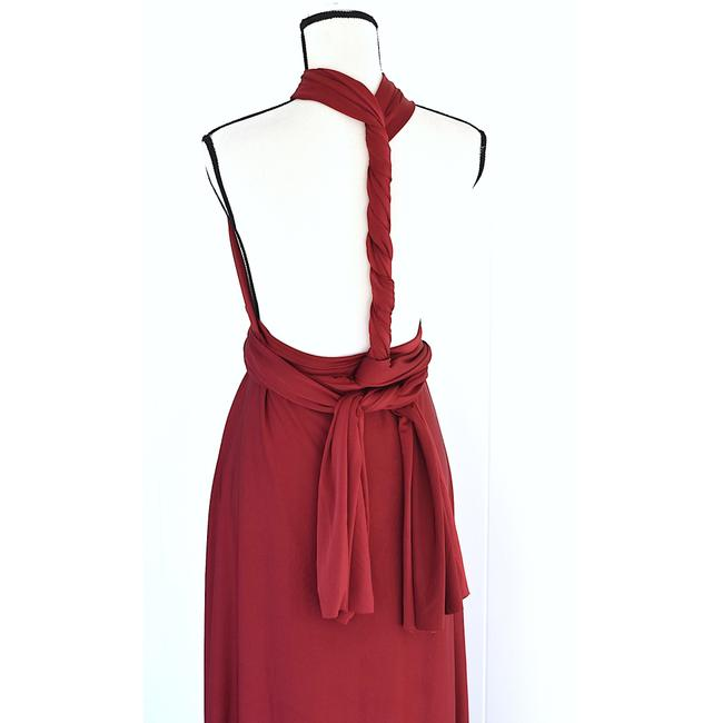 Lulu*s Burgundy Tricks Of The Trade Maxi Gown Long Cocktail Dress Size 8 (M) Lulu*s Burgundy Tricks Of The Trade Maxi Gown Long Cocktail Dress Size 8 (M) Image 3