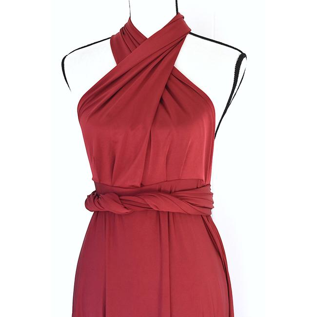 Lulu*s Burgundy Tricks Of The Trade Maxi Gown Long Cocktail Dress Size 8 (M) Lulu*s Burgundy Tricks Of The Trade Maxi Gown Long Cocktail Dress Size 8 (M) Image 4