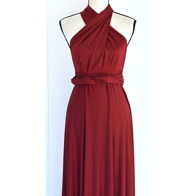Lulu*s Burgundy Tricks Of The Trade Maxi Gown Long Cocktail Dress Size 8 (M) Lulu*s Burgundy Tricks Of The Trade Maxi Gown Long Cocktail Dress Size 8 (M) Image 5