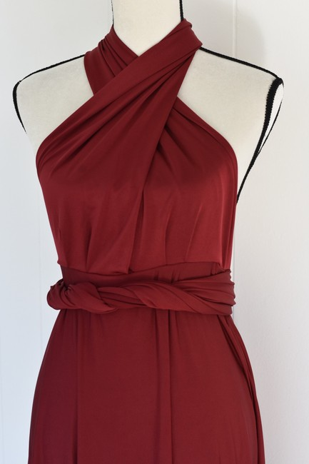 Lulu*s Burgundy Tricks Of The Trade Maxi Gown Long Cocktail Dress Size 8 (M) Lulu*s Burgundy Tricks Of The Trade Maxi Gown Long Cocktail Dress Size 8 (M) Image 6