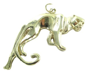 10K SOLID YELLOW GOLD PENDANT PANTHER 7.7 GRAMS FINE JEWELRY ANIMAL WILD CAT