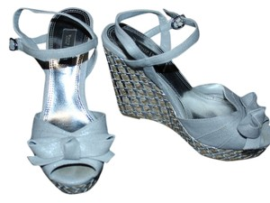 White House | Black Market Silver Grey Wedges