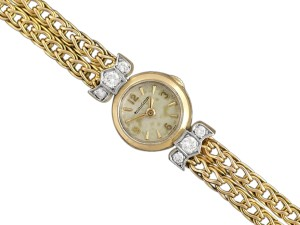 Jaeger-LeCoultre 1950's Jaeger-LeCoultre Vintage Ladies Backwind Cocktail Watch - 18K G