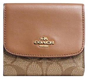 Coach Coach SMALL WALLET IN SIGNATURE COATED CANVAS F 87588 NWT
