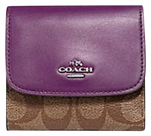 Coach Coach SMALL WALLET IN SIGNATURE COATED CANVAS F 87589 NWT