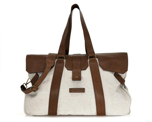 Item - New Country Leisure Natural Brown Canvas Leather Weekend/Travel Bag