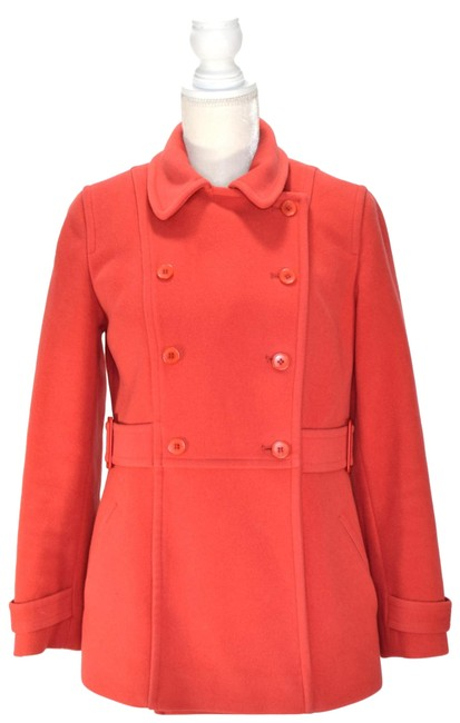 Item - Salmon Wool Blend Double-breast Coat Size Petite 8 (M)