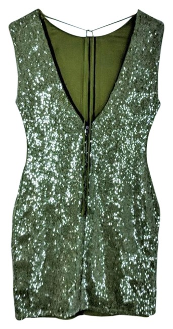 Item - Chartreuse Sequin Mini Short Night Out Dress Size 2 (XS)