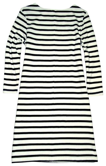 Old Navy White Striped Knit 3/4 Sleeve Tunic Mid-length Short Casual Dress Size 6 (S) Old Navy White Striped Knit 3/4 Sleeve Tunic Mid-length Short Casual Dress Size 6 (S) Image 1