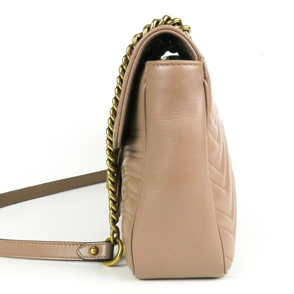 GUCCI GG Marmont Small Shoulder Bag - Nude   Unineed