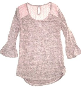 No Boundaries Soft Lace Detail 3/4 Bell Sleeve Sweater