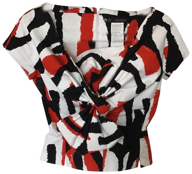 Dsquared2 Red Black Blouse Size 2 (XS) Dsquared2 Red Black Blouse Size 2 (XS) Image 1