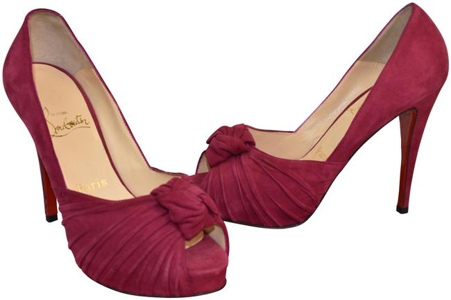 Item - Purple Lady Gres Fuchsia Suede Knotted Peep Toe Hidden Platform Pumps Size EU 36.5 (Approx. US 6.5) Regular (M, B)