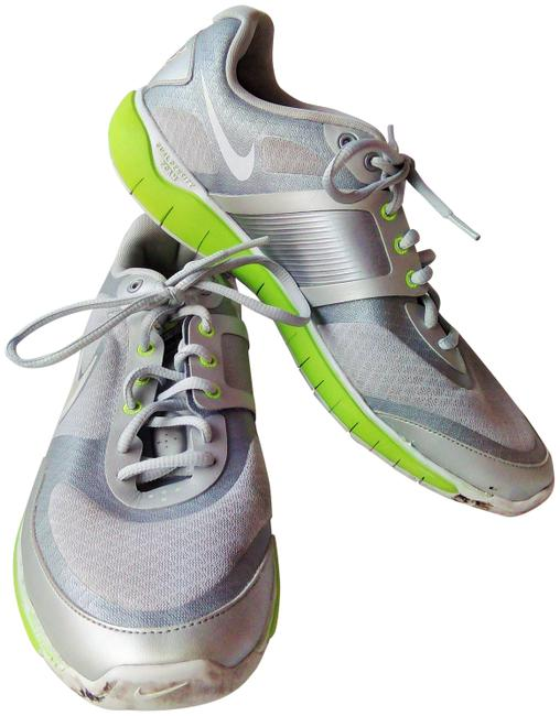 Item - Silver/Grey/Lime Everyday Fit Sneakers Size US 11 Regular (M, B)