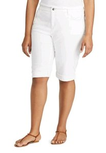 Chaps Stretchy Stretch Skimmer Comfortable Bermuda Shorts White