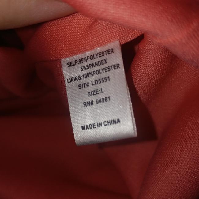 Item - Coral Open Back Mid-length Short Casual Dress Size 12 (L)