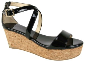 Jimmy Choo Portia 70 Patent Leather Black Platforms