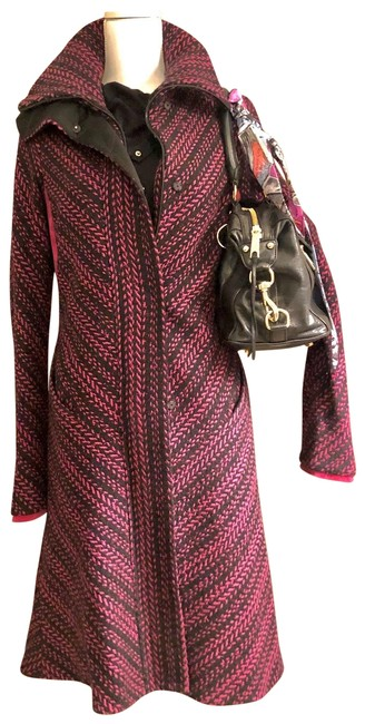 Item - Black & Pink Dvf And Coat Size 8 (M)