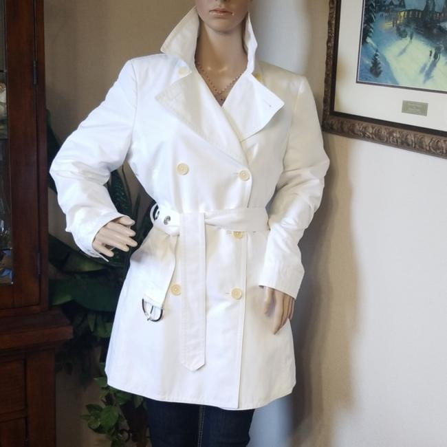 Item - White Double Breasted Coat Size 8 (M)