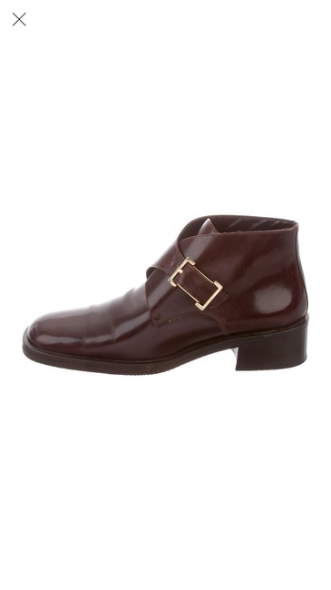 Item - Brown Leather Square-toe Oxfords Boots/Booties Size EU 38.5 (Approx. US 8.5) Wide (C, D)