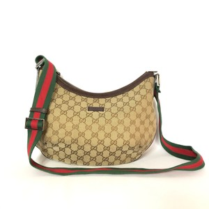 Gucci Brown tan ebony Messenger Bag