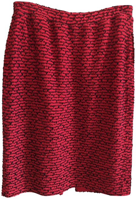 Item - Red Black Collection Knit Straight/Pencil Skirt Size 8 (M, 29, 30)