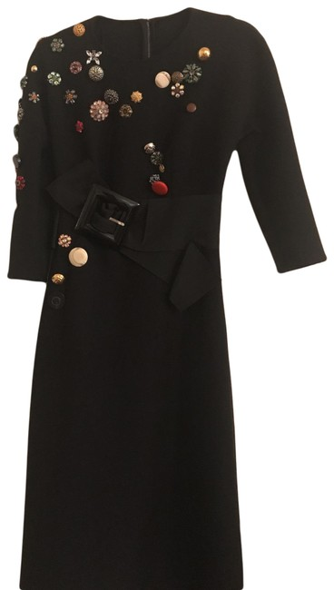 Item - Black Dolce and Gabbanna Mid-length Cocktail Dress Size 2 (XS)