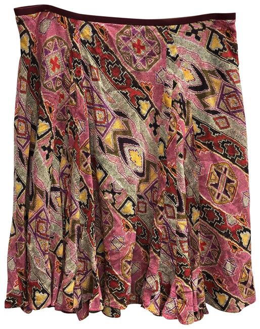 Item - Multi Color Printed Skirt Size 12 (L, 32, 33)