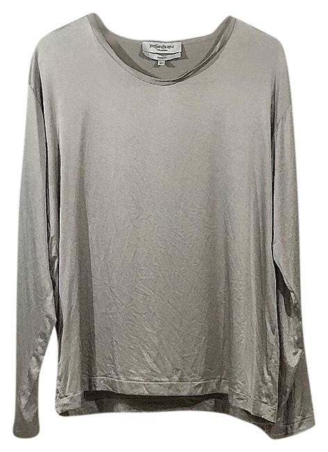 Preload https://img-static.tradesy.com/item/26313018/saint-laurent-silver-rive-gauche-blouse-size-12-l-0-3-650-650.jpg