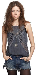Free People Get The Point Trinity Tank Sz 10 M Adorable Tunic