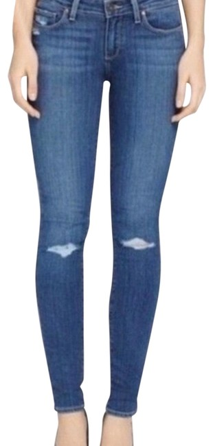 Item - Blue Distressed Verdugo Ankle Bingham Wash Skinny Jeans Size 0 (XS, 25)