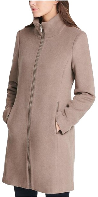 Item - Taupe Wool + Cashmere Blend Coat Size 4 (S)