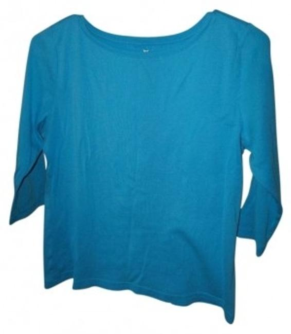 Preload https://img-static.tradesy.com/item/26314/talbots-blue-three-quarter-length-sleeve-tunic-size-12-l-0-0-650-650.jpg