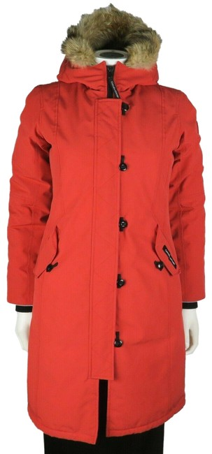 Item - Red Nylon Parka Jacket Children's Large Coat Size 0 (XS)